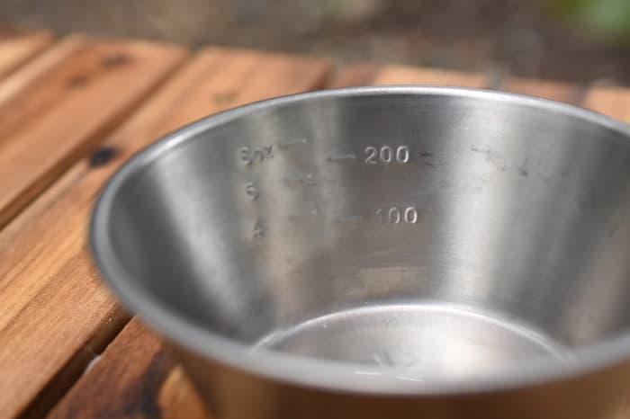 シェラカップの容量