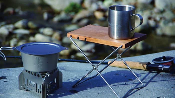 【木製】ソロキャンプ向けウッドテーブル