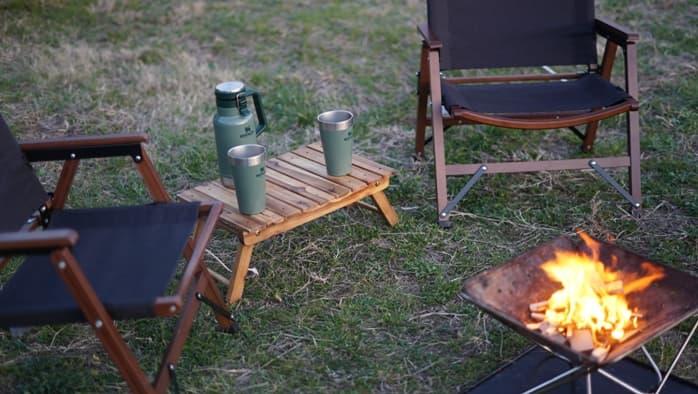 焚火テーブル 木製
