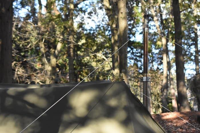 薪ストーブをテントで使う時の火の粉対策