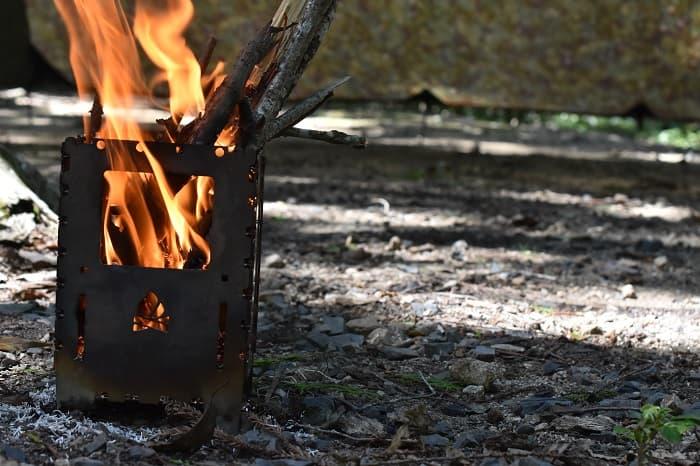 ブッシュボックスは燃焼効率が抜群