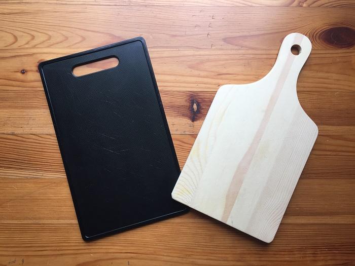 ダイソーで買ったまな板とカッティングボード