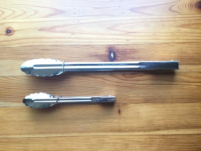 ダイソーのトングの大きさを比較