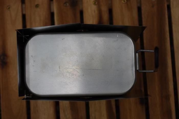 メスティンとポケットストーブを囲える風防