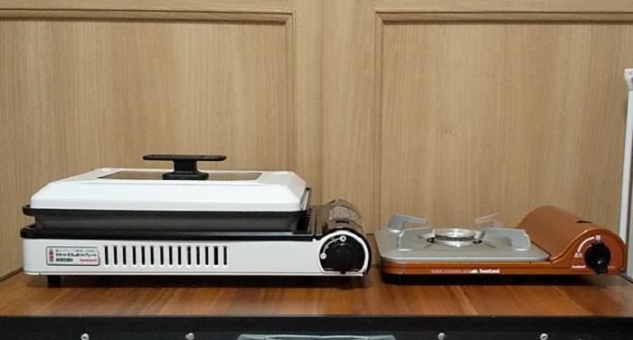 焼き上手さんαと一般的なガスコンロの高さを比較