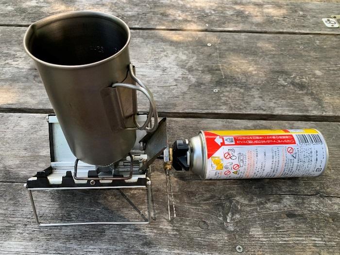 チタン製なので直火が使える