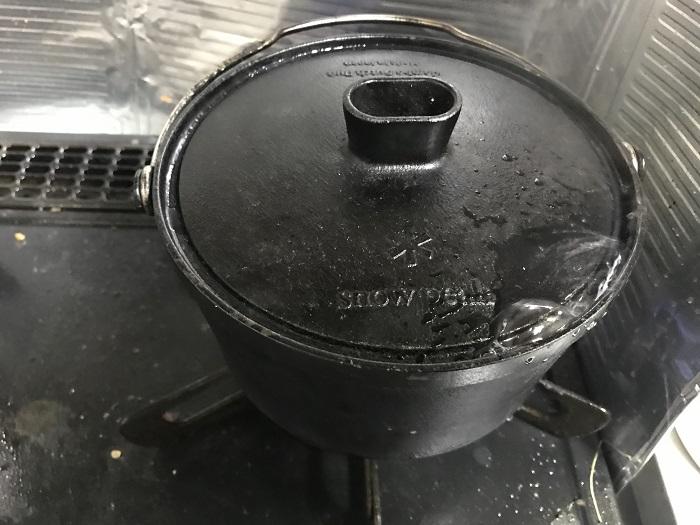 コンボダッチデュオの炊飯時に沸騰した目安