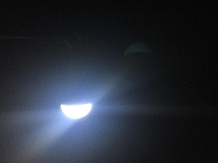 ハンギングLEDライト(セリア)の明るさ