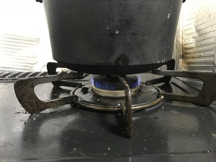 コンボダッチデュオの炊飯時に沸騰した後の火加減