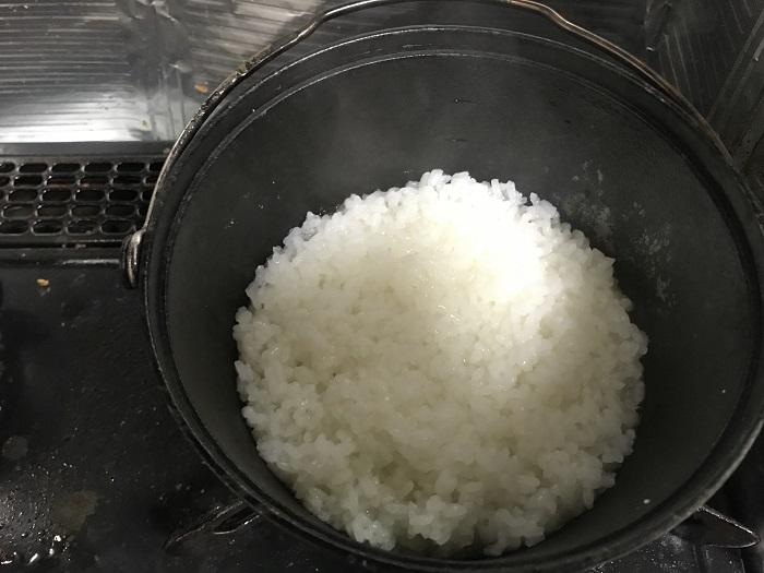 コンボダッチデュオの炊飯時の炊きあがり