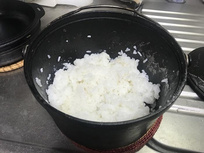 コンボダッチデュオで炊飯