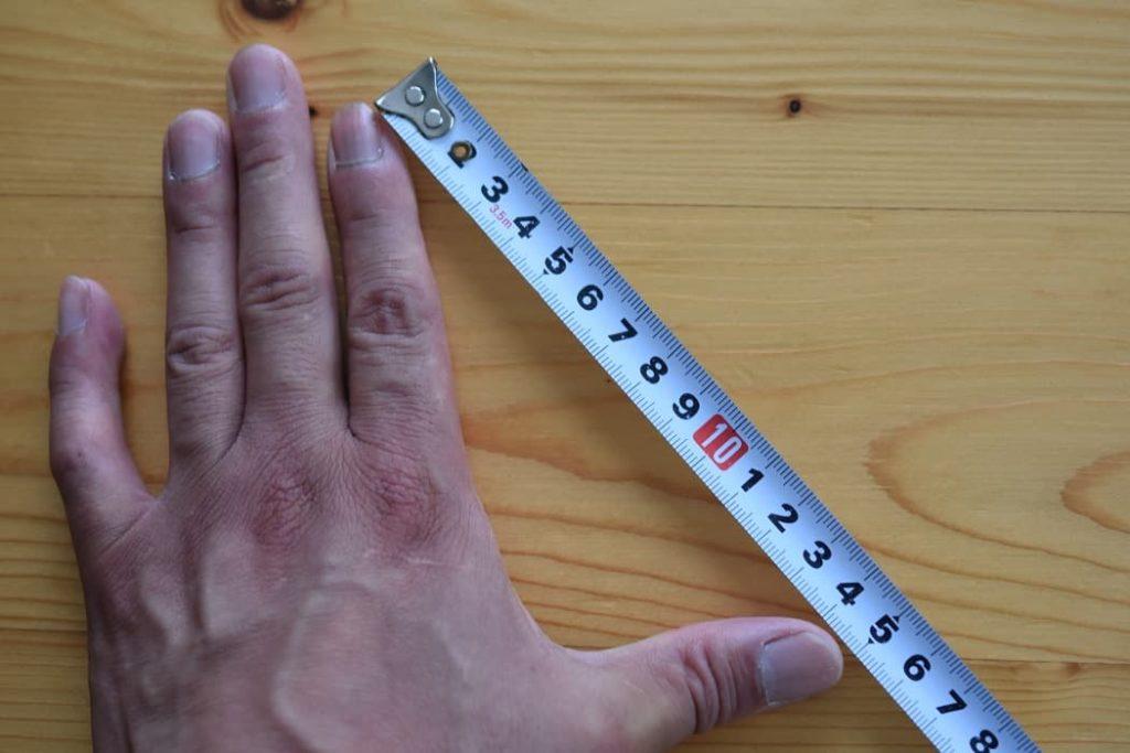 手の大きさを測る