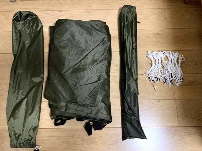BUNDOK(バンドック)ミニヘキサゴンタープの付属品