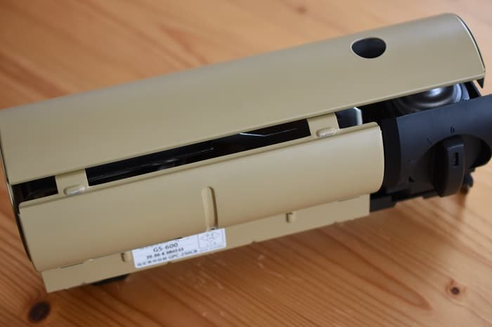 SnowPeek(スノーピーク)カセットコンロ「ホーム&キャンプバーナー」GS-600の容器カバー