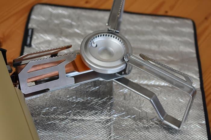 SnowPeek(スノーピーク)カセットコンロ「ホーム&キャンプバーナー」GS-600のバーナーシート