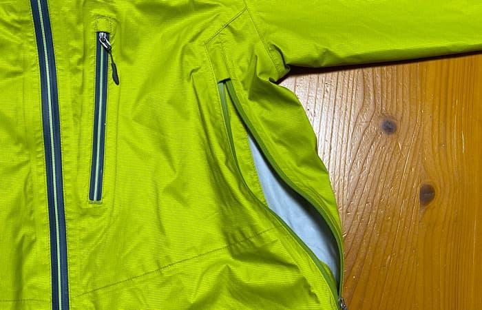finetrackエバーブレスフォトンジャケットのベンチレーション