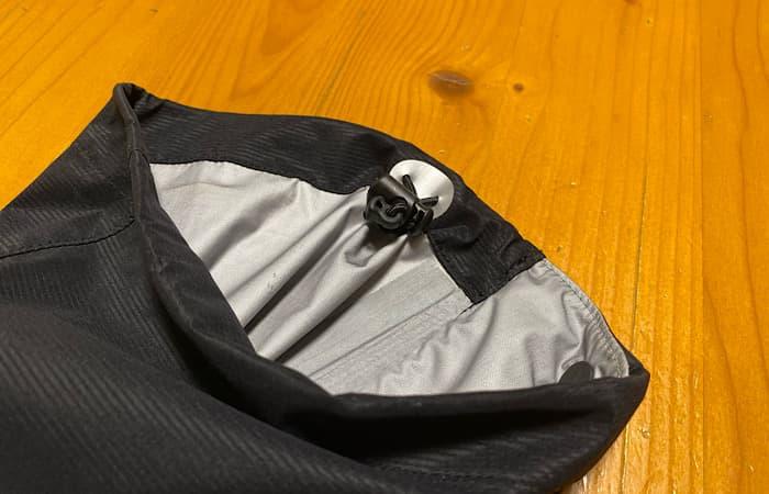 finetrackエバーブレスフォトンパンツの裾のドローコード