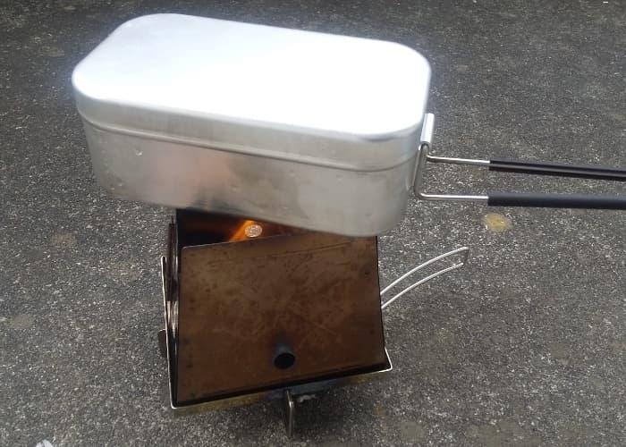 アルコールストーブでお湯を沸かしてみた。