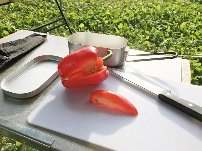 ダイソーメスティンの簡単アレンジ炊飯レシピの手順