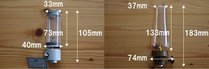 ルミエールとノクターンのサイズを比較