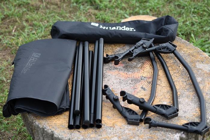 Hilander(ハイランダー)のキャンプコットの組み立て方