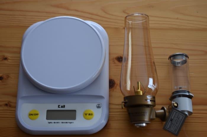 ルミエールとノクターンの重さを比較