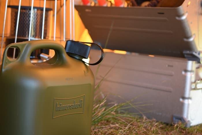 キャンプの灯油タンクを使うときの注意点