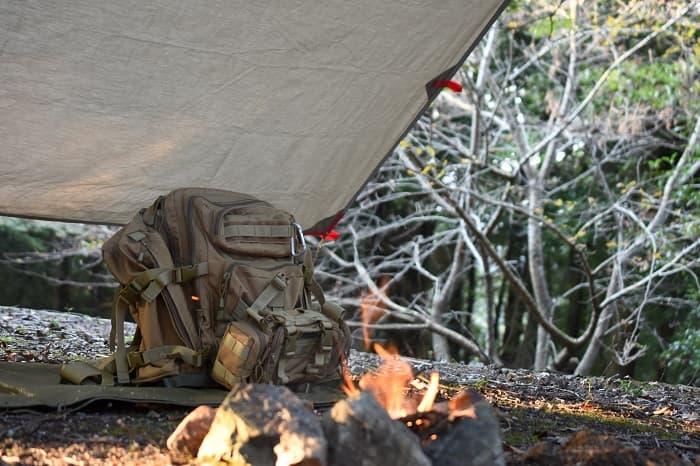 ポリコットンTCタープはソロキャンプにおすすめ!