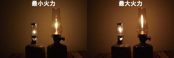 ルミエールとノクターンの最大と最小の明るさを比較