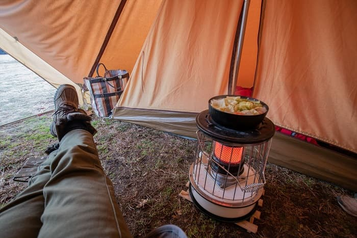 テント内で灯油ストーブを使用するときの3つの注意点
