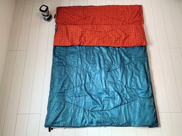 連結や分離ができる寝袋