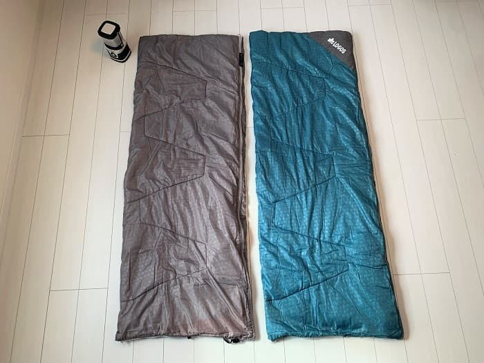 連結や分離ができるロゴスの寝袋