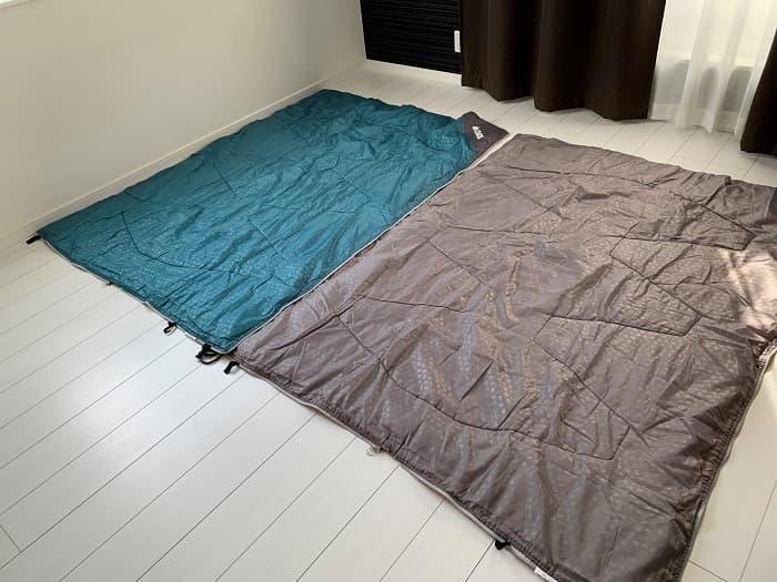 ロゴス「ミニバンぴったり寝袋・-2」はブランケットとしても使える