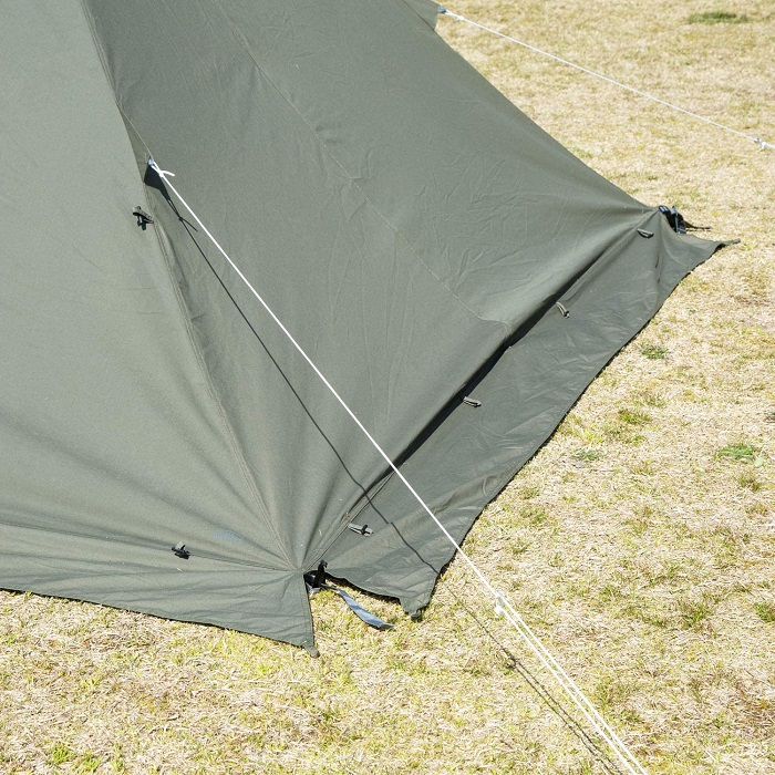 冬にワンポールテントを使うならスカートが必要