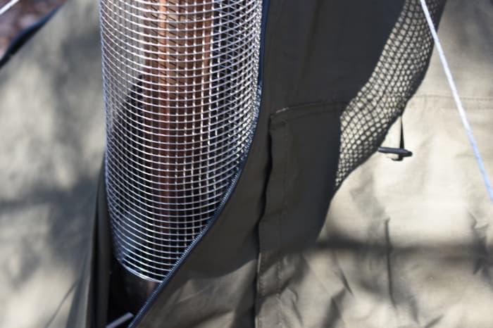 ソロベースEXにいれた薪ストーブの煙突