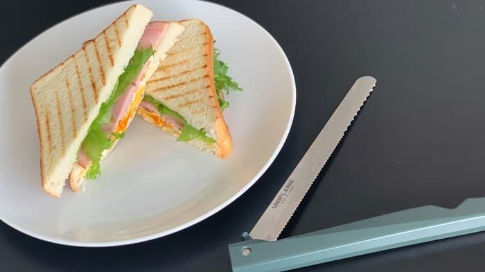 パンくずがでない ユニフレームのパン切りナイフ「FDブレッドナイフ」