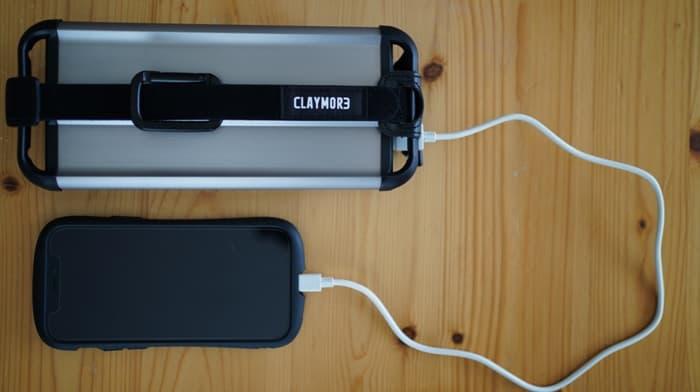 クレイモアランタン3FACE+の充電