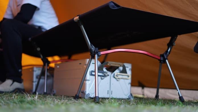 テントに入れたハイコット
