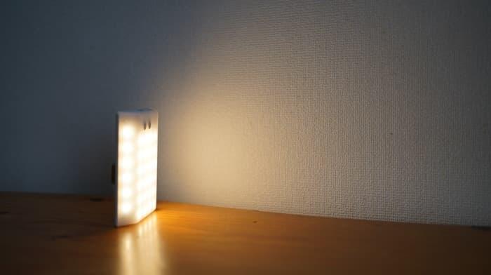 クレイモアランタン3FACE miniの明るさ