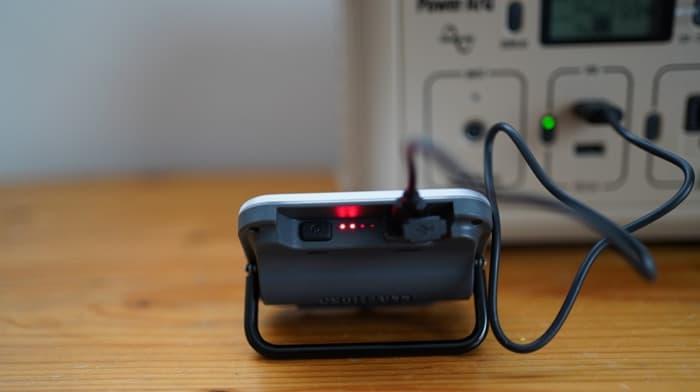 クレイモアランタンULTRA mini(ウルトラミニ)のバッテリー残量や充電方法