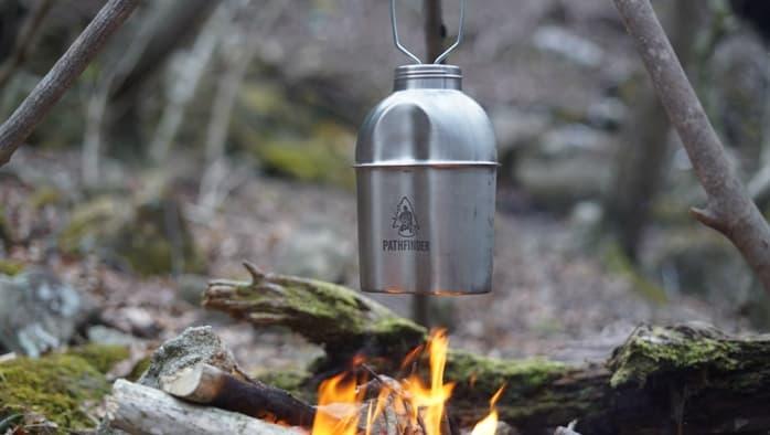ミリタリーっぽい焚き火で使える水筒ならパスファインダー