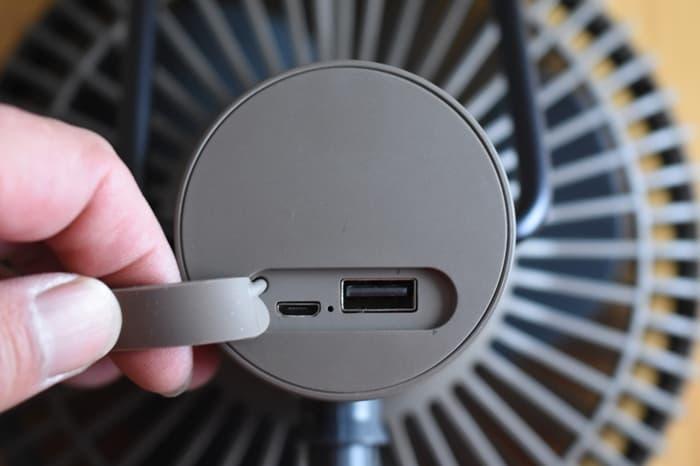 クレイモアFAN V600扇風機の充電方法