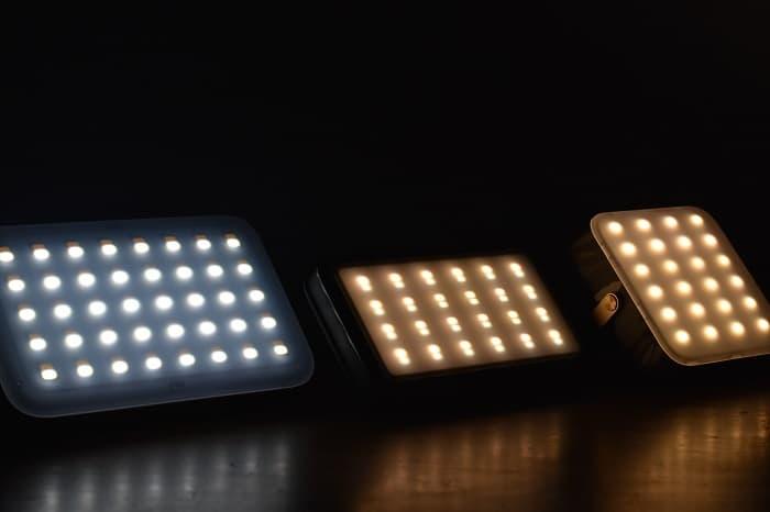 ルーメナー3種類の明るさ比較