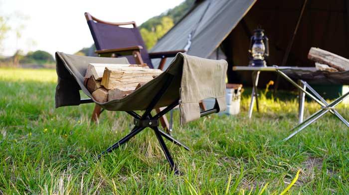 おしゃれなキャンプ用薪ラック(スタンド)のおすすめ