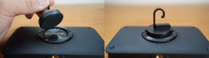ルーメナー(LUMENA)2の磁石ハンガーの使い方