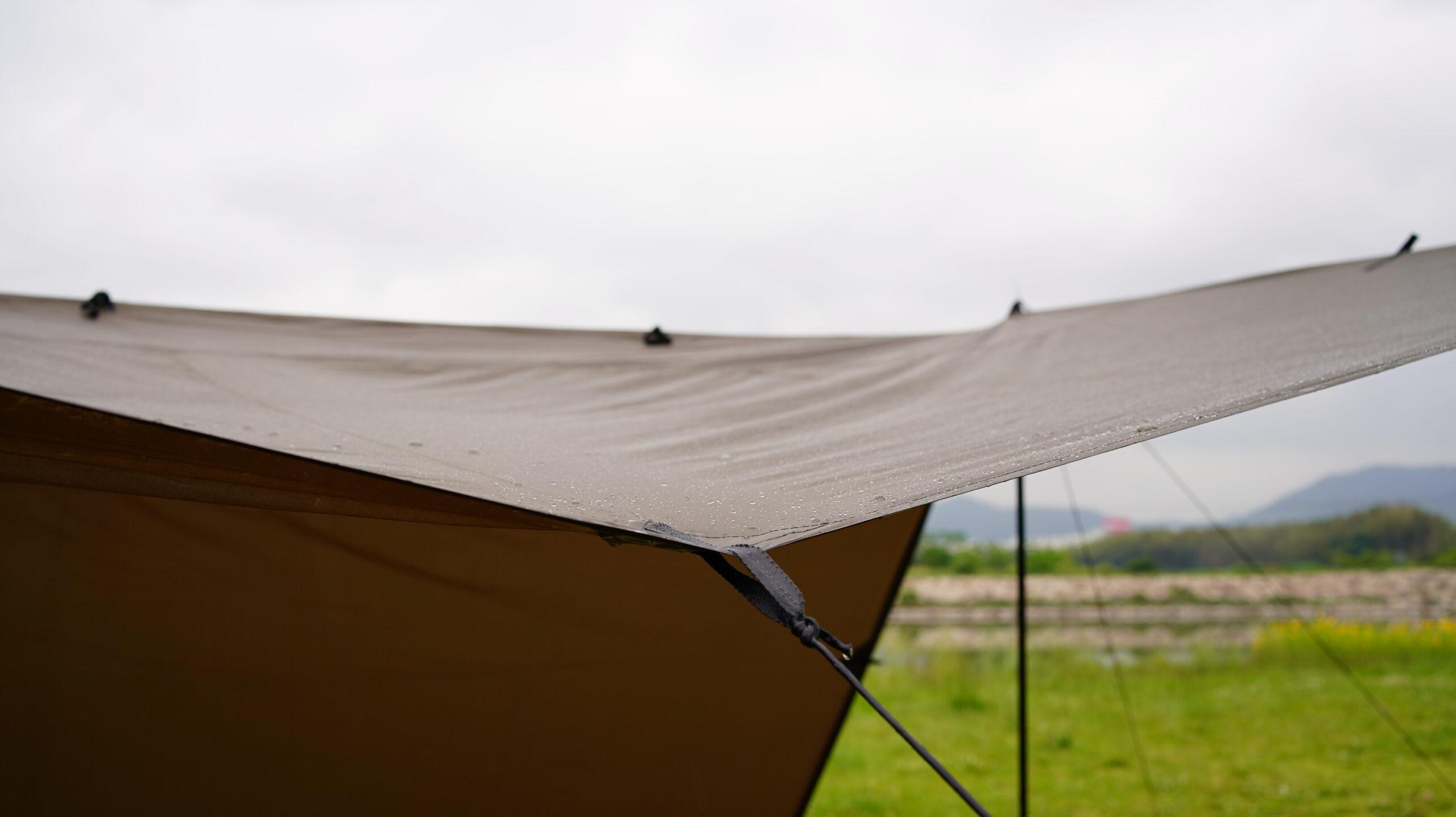 >雨の日のテント・タープ雨風対策
