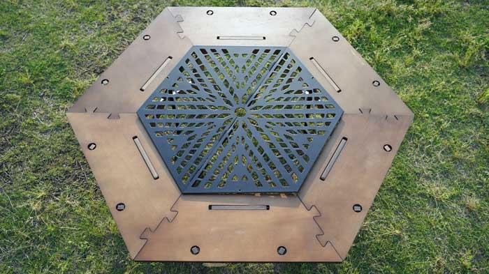 スチールヘキサゴンインナーテーブルの組み立て方