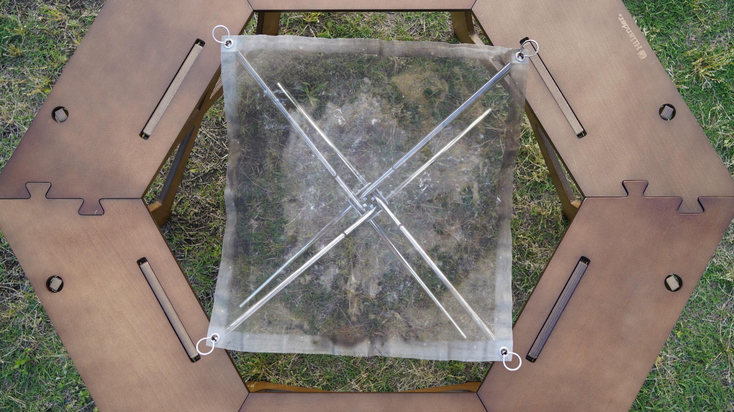 ハイランダーの木製囲炉裏テーブルのサイズ