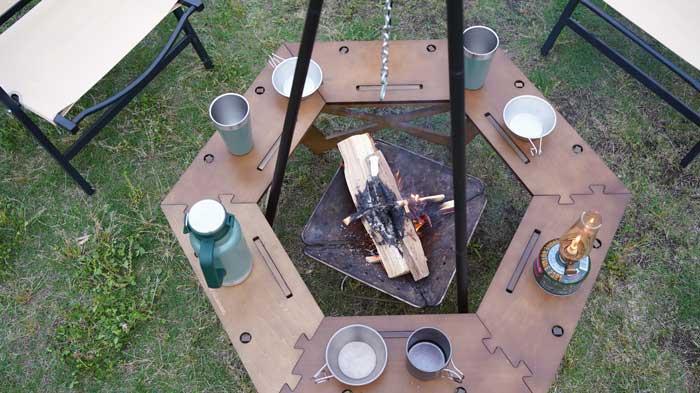 ハイランダーの木製囲炉裏テーブルのレビュー