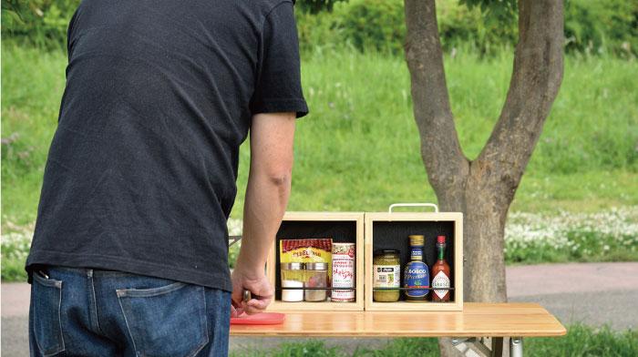 キャンプの調味料入れの収納や持ち運びにおすすめのスパイスボックス